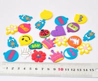 Cheap Popular silicone rainbow bracelet pendant rainbow loom small pendant with a soft doll 500pcs lot