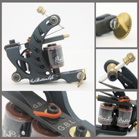 1 Piece Other Material Machine Other Machine New Design Tattoo Machine Gun Black Iron for liner 8 Wrap Coils for starter tattoo kit Supplies TM-S002 freeshipping