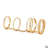 Wholesale Punk Plated Gold Circles Joint Ring Personalized Womens Mens Band Rings Jewelry New Arrival