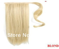 Wholesale New Arrival Beauty amp Health Women s cm Blond Black Clips On Drawstring Ponytail Hair Extensions Synthetic Wigs