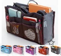 Wholesale Multifunction CosmeticClutch Wash bag Bag Pouch Purse Handbag Organizer Organization Insert Slim Bag In bag Home Storage Storage Bags