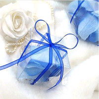 Cheap Wholesale - - Free Shipping--100pcs 5cm*5cm*5cm Clear Wedding Favor Box Gift Candy Boxes Wedding Decoration