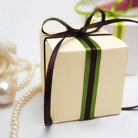Wholesale cm cm cm Ivory Wedding Favor Box Gift Candy Boxes Wedding Decoration