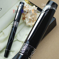 Wholesale PICASSO FOUNTAIN PEN KGP M NIB black swirl hot