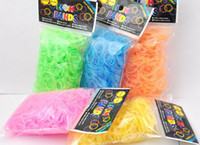 Cheap Colorful Rubber Bands Refill for Rainbow Loom Diy Bracelets Good elasticity (600pcs+24clips) bag