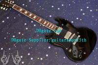 Solid Body 6 Strings Mahogany New arrival Custom Shop G Black SG Left Hand Electric Guitar 100% Excellent Quality Guitars !!!
