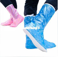 Cheap Wholesale - High Quality Motorcycle PVC Garden Hiking Cycling Riding Waterproof Snow Biker Rain Boot Shoe Cover EUR SIZE 36-39 free shipping