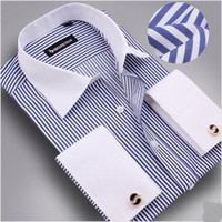 Wholesale new men long sleeve shirt free cufflinks men dress shirt men shirt mens dress shirts fashion men s shirt cheap