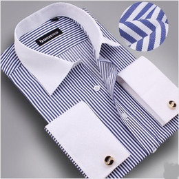 Wholesale new men long sleeve shirt free cufflinks men dress shirt men shirt mens dress shirts fashion men s shirt cheap