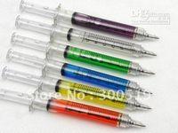 Fabric ballpoint pen colors - Syringe pen COLORS Ball point pen promotion Gift pen White box packing Free Shipp
