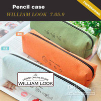 Fabric   Wholesale - - Min.order is $25 (mix order) Stationery Linen Pencil Case pencil bag bags women leather bags fashion