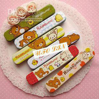 Wholesale cute relax bear Tin pencil case Tin storgae box Tin case Pencil box pencil holder Fash