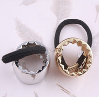 Wholesale Europe and the show go hair ornaments big name fashion hair jewelry metal gear Ring Ring rope