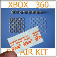 Wholesale Red Ring of Death RROD Repair kit screw metal washer thermal paste fix x clamp replacement