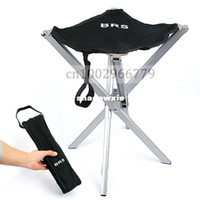 Cheap Outdoor Ultralight aluminum alloy mazha portable folding stool camping fishing chair small seat Beach chairs Free shipping 475g