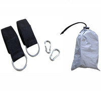 Cheap OUT304 Free shipping Outdoor safe double hammock ropes+buckles+bag set thickening bandage swing bandage