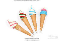Wholesale Ice cream plastic ball point pen creative stationery student office supplies Novelty