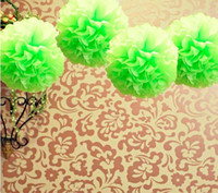apple crafts - Lowest Price quot cm Apple Green Color Tissue Paper Pom Poms Flower Balls Wedding Party Decoration Paper Craft Mixed Colors uPick