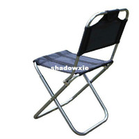 Wholesale Outdoor aluminum alloy folding stool fishing chair fishing stool with backrest