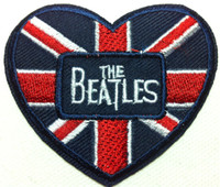 beatles patches - Wholesales Pieces The Beatles Heart x cm Punk Patch Embroidered Applique Iron on Patch ALB
