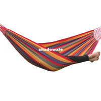 Cheap Travel camping hammock swing outdoor thickening canvas hammock cloth long 2 meters