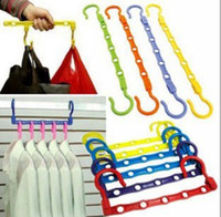 Wholesale Shipping Free ABS Multifunction wind resistant magic rotateable hanger novelty gift