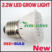 Wholesale Global E27 RED and BLUE LED W Hydroponic Plant Grow Light Growth LED Light Bulb