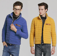 Wholesale New Hot Men s Slim Winter Warm stand collar Thermal Wadded Jacket Cotton padded Coat