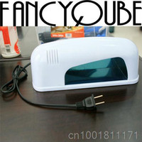 Wholesale New Fashion V W Professional Nail Art Gel UV Lamp Light Dryer White YNA V