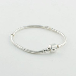New High-quality 100% 925 Sterling Silver Snake Starter Bracelets Fits European Style Jewelry Charm and Charms
