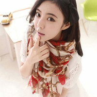 Cheap free shippingNew winter wagon wheel pattern scarf velvet chiffon scarf scarves shawls women in Europe and America to increase