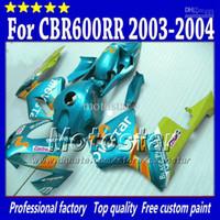 Wholesale Free Seat Cowl injection molding fairings kit for HONDA CBR RR CBR600RR F5 water blue Movistar fairing set D82