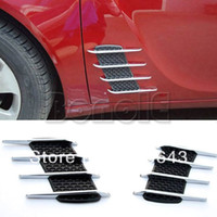Best 2PCS New False Vent Net Car Air Flow Hood modified Stick Adornment Dropshipping 5732