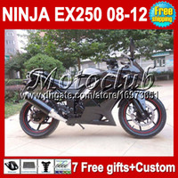 Wholesale 7gifts Custom Kit For Kawasaki Ninja all black EX250 EX250R gloss blk EX Fairings