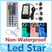 Wholesale Non waterproof RGB Lights led strips M Leds SMD keys remote V A Transformer with EU UK AU US SW Plug