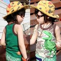 Cheap SUNLUN FREE SHIPPING 2012 summer Camouflage boys clothing baby vest tx-0854