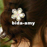 Other other  Wholesale - Min.order is $10 (mix order) 72I34 fashion gold lovely flower hair band hair clip hair jewelry! cRYSTAL sHOP free shipping