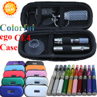 Electronic Cigarette Set Series Purple Top quality eGo-T CE4 Colorful 5 in 1 Zipper case electronic cigarette starter kit with CE4 atomizer ego t battery e cigarette kits DHL