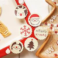 Wholesale Merry Christmas Santa Claus snowman snowflake Reindeer sealing sticker baking package cake box decoration x3cm