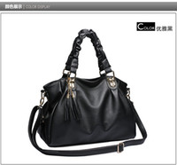 Wholesale Hoolady spring summer fashion fringed shoulder cross tide all match bags handbags