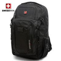 Wholesale Black SWISSWIN Army Knife Backpack sports backpack men and women travel shoulder backpack computer backpack Students backpack BDD SW9101