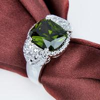 925 silver peridot gemstone rings #6. 5 #7 #8 #9 R0468