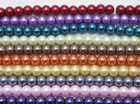 pearl jewelry making - Attractive mm Faux Pearls Charms Colorful Glass Pearl Loose Beads Spacer For Jewelry Necklace Making BDG1