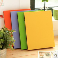 Wholesale Candy color handmade diy picture album hemp fabric covering photo albums A4 size