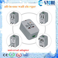 Wholesale All in One Universal Travel Wall Charger AC Power Adapter Converter AU UK US EU Plug Worldwide convenient to use wu