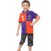 Wholesale C3965 Purple Nova brand m y kids boys polo shirts badge embroidery cotton short sleeve baby summer clothing cheap plain t shirts