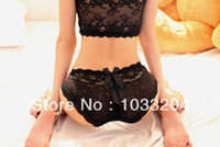 Wholesale Whloesale freshipping Women s Sexy low waist Underwear Lingerie Briefs Sexy lace two knots princess Panties