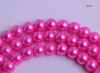 Wholesale Strands Charms Faux Faux Glass Pearl Loose Round Beads Flatback mm Fit European Bracelet DIY Necklace BDA27