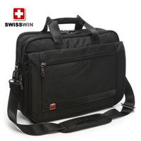 Cheap SWISSWIN Army knife computer bag handbag shoulder bag diagonal black business briefcase