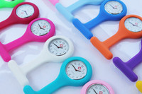 Wholesale 50PCS silicone nurse watch nurse pin watch silicone nurse fob watch hang nurse watch